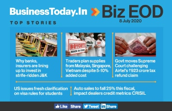 Biz EOD: Lenders eager to invest in J&K; US issues fresh visa rules for students; Auto sales to fall 25%