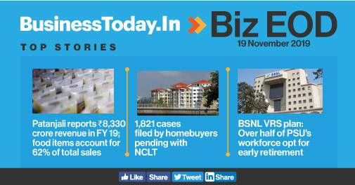 Biz EOD: Patanjali sees Rs 8,330 cr turnover, 50% BSNL employees opt for VRS, GST portal crashes