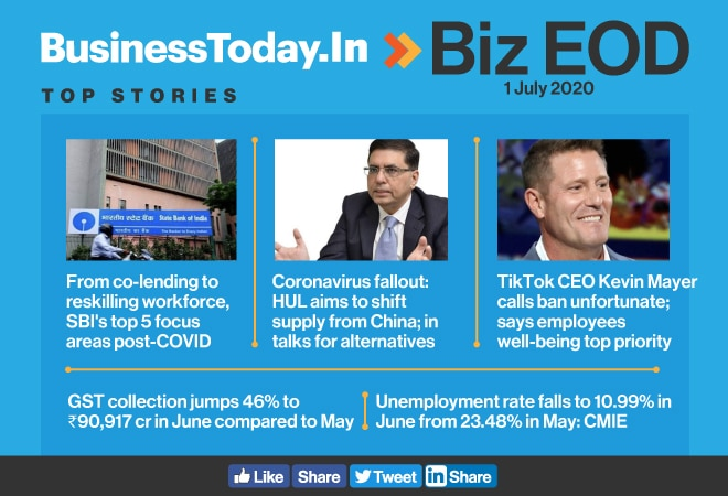 Biz EOD: SBI's focus areas post-COVID; HUL to shift supply from China; TikTok CEO calls ban unfortunate