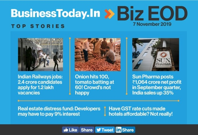 Biz EOD: Too many aspirants for railway jobs, onion prices on fire, hotels to remain costly