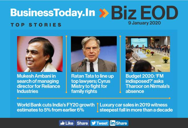 Biz EOD: Search on for new RIL MD; FM missing as PM meets economists; luxury car sales see biggest fall in decade