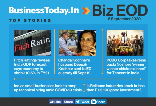 Biz EOD: Fitch lowers India GDP forecast; Deepak Kochhar arrested; PUBG Corp takes reins back
