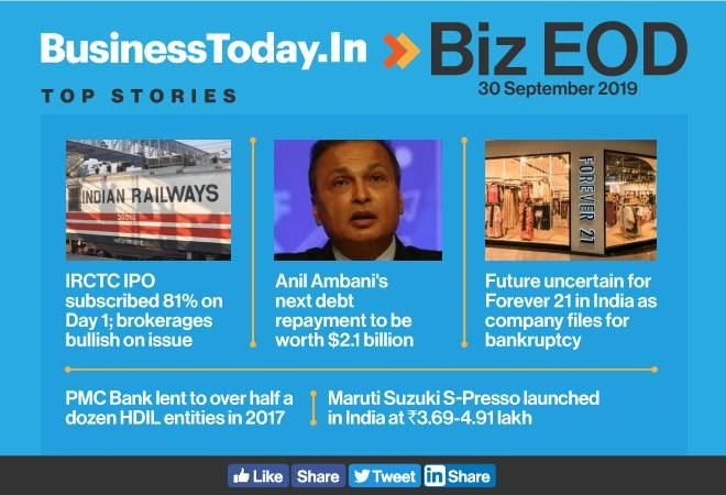 BIZ EOD: IRCTC IPO opens, Maruti Suzuki S-Presso launched, Forever 21 bankrupt and more