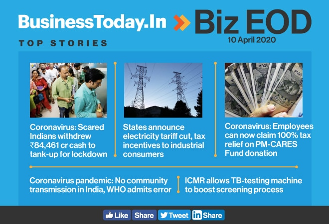 Biz EOD: Indians withdrew Rs 84,461 cr cash; PM-CARES Fund goes tax-free; WHO admits error