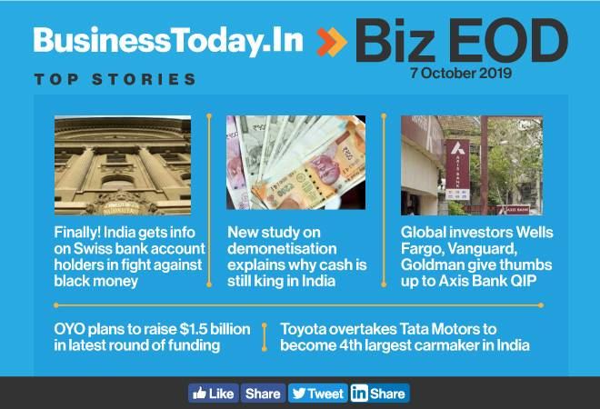 Biz EOD: India gets Swiss account details, cash is still king, Samsung top boss visits and more