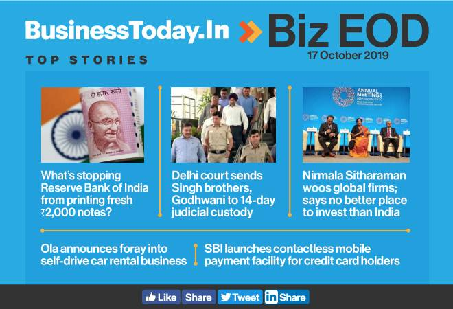 Biz EOD: Rs 2,000 note mystery, Singh brothers in jail, FM invites global firms