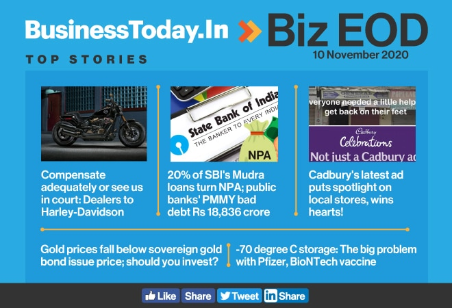 Biz EOD: Harley-Davidson dealers' dilemma; SBI's 20% Mudra loans turn NPA; problem with Pfizer, BioNTech vaccine