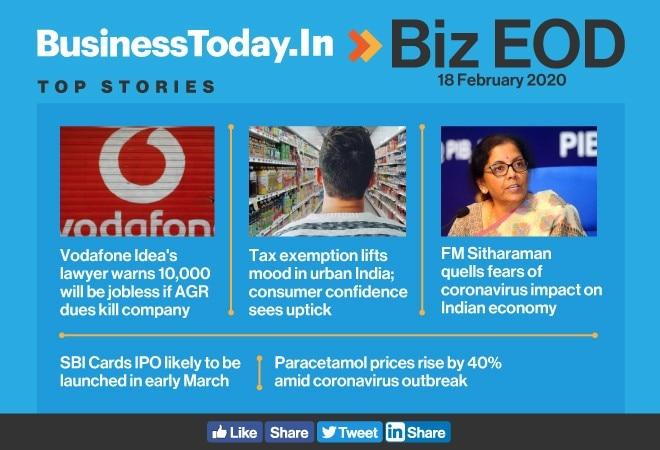 Biz EOD: AGR threat to jobs; consumers regain confidence; FM addresses coronavirus fears