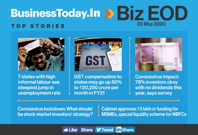 Biz EOD: Unemployment spikes in 7 states; GST compensation to states may rise 50%; Cabinet okays stimulus