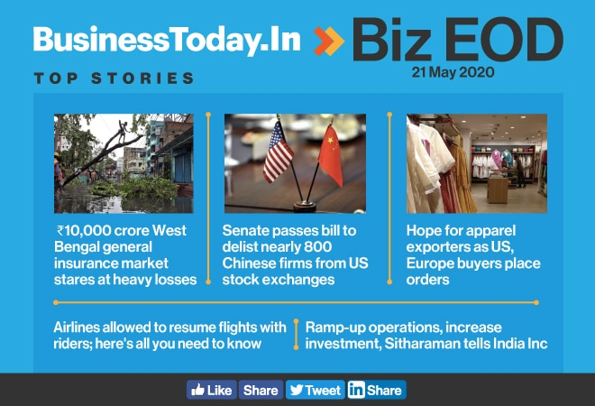 Biz EOD: US to delist Chinese firms; hope for apparel exporters; airlines to resume flights