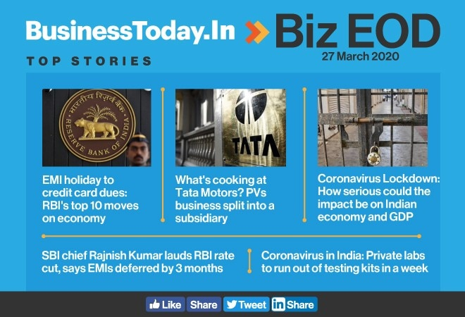 Biz EOD: RBI's corona plan; times a-changing for Tata Motors; problems begin for private labs
