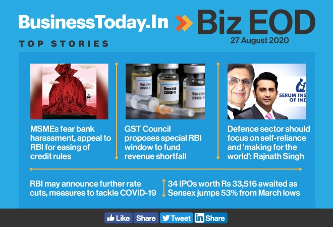 Biz EOD: MSMEs fear bank harassment; self-reliance fillip for defence sector; RBI may announce further rate cuts
