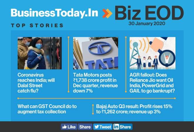 Biz EOD: Coronavirus reaches India; Tata Motors' profit rises; CAG questions govt's disinvestment process
