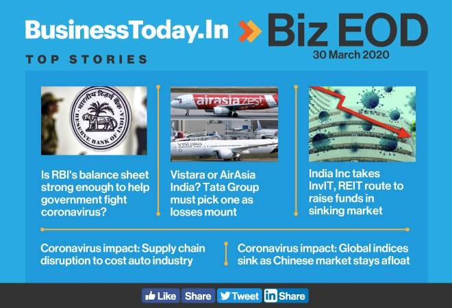 Biz EOD: Can RBI tackle COVID-19; Tata's airline portfolio in limbo; India Inc turns to InvIT, REIT