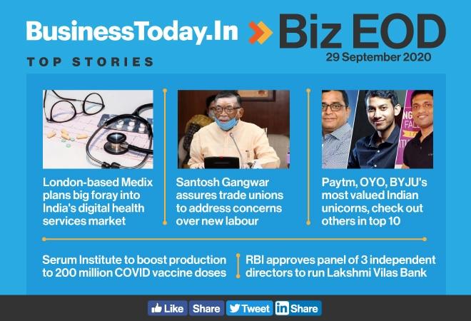 Biz EOD: Medix's big foray into India; Gangwar on new labour codes; Paytm, OYO most valued Indian unicorns