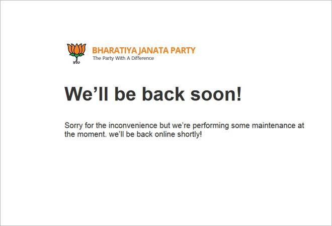 BJP's official website hacked, site put under maintenance
