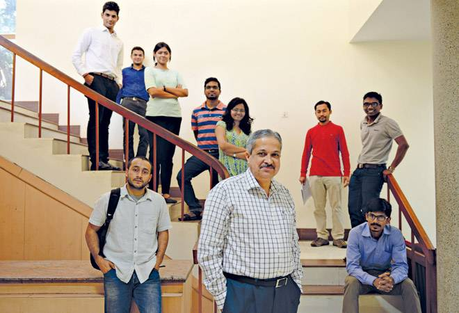 IISc Chairman Prof M H Bala Subramanya with students