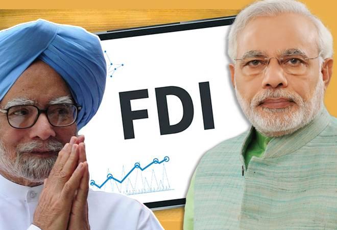 Who got more FDI - Manmohan or Modi?