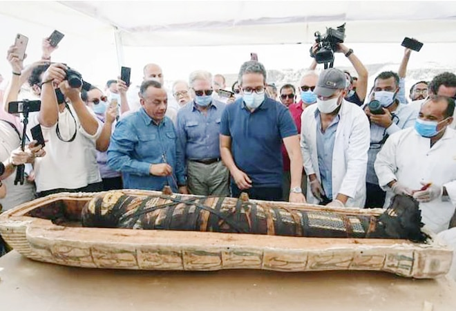 Mummy coffin opened for first time in 2,600 years in Egypt; watch viral video