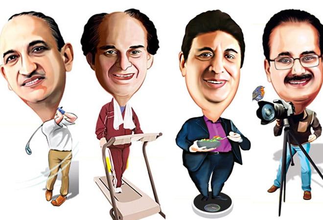 (L-R) Bhadresh Shah, AIA Engineering; Harsh Mariwala, Marico; Keki Mistry, HDFC; GV Prasad, Dr. Reddy's Laboratories
