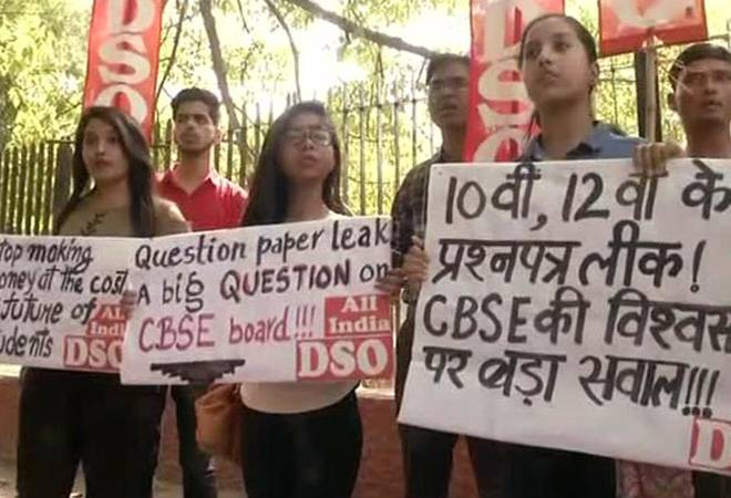 CBSE paper leak: Around 34 people questioned; students protest against re-examination decision