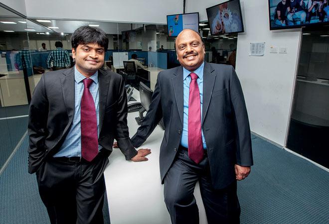Srikanth Chakkilam, Executive Director (left) and C.V. Subramanyam, Chairman, MD