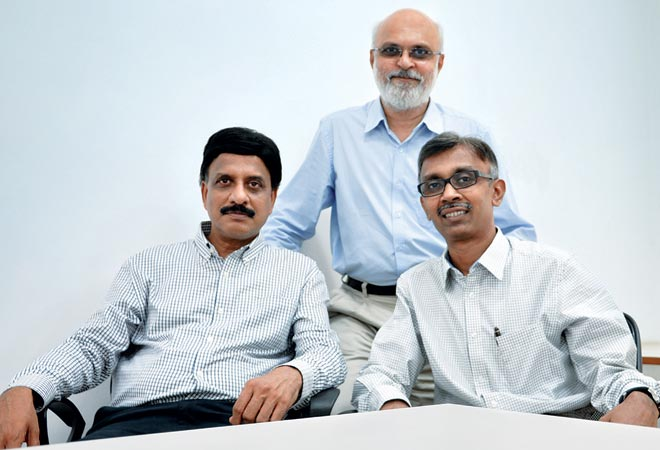 Founding Members of Proklean: (L to R) B. Chandrashekhar, Technical Director; S.S. Pillai, CEO; and Vishwadeep Kuila, Marketing Director