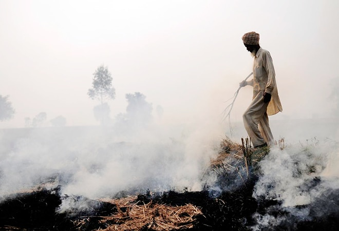 NASA releases images of crop-burning as Delhi's air quality dips to 'very poor'