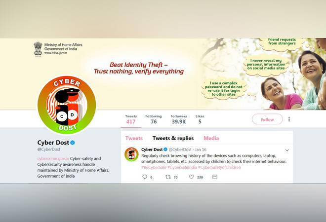Cyber Dost: This Twitter handle by Home Ministry tells you how to keep your online personal, financial data safe