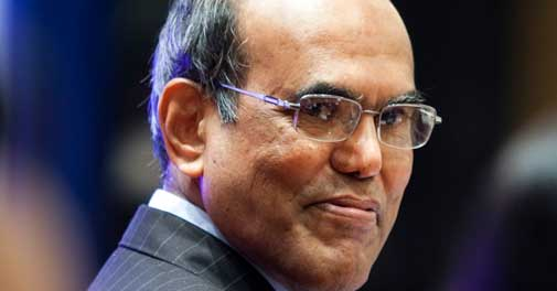 Outgoing RBI Govenor D Subbarao