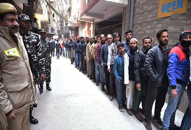 Delhi Election 2020: Voter turnout spikes during last hours, rises close to 55% till 6pm