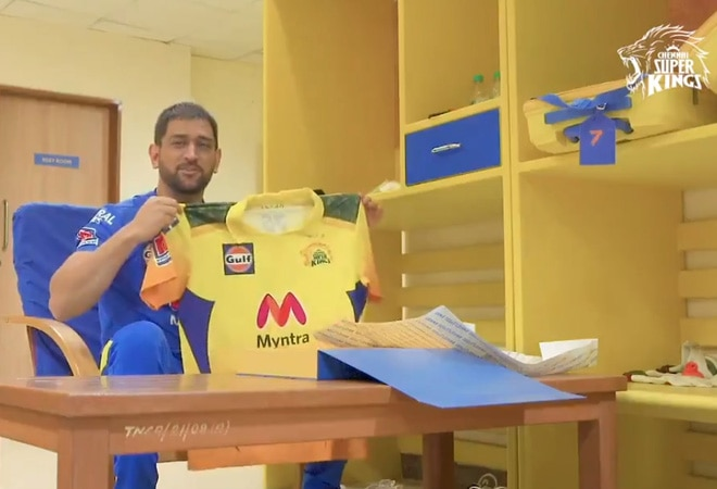 IPL 2021: MS Dhoni unveils new CSK jersey with camouflage design as tribute to Indian Army