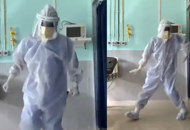 Watch: Doctor wearing PPE kit dances to 'Ghungroo' for coronavirus patient