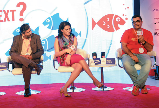 (From left) Josey Puliyenthuruthel, Managing Editor, BT; Laveesh Bhandari, Chief Economist, Nielsen India; Radhika Aggarwal, Co-founder & Chief Marketing Offi cer, Shopclues.com; and Vishal Gondal, Founder, GOQii.com