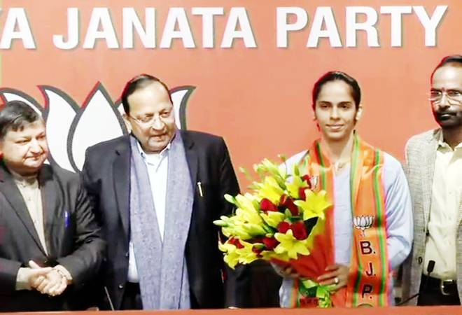 Delhi Assembly election 2020: Badminton ace Saina Nehwal makes political debut; joins BJP