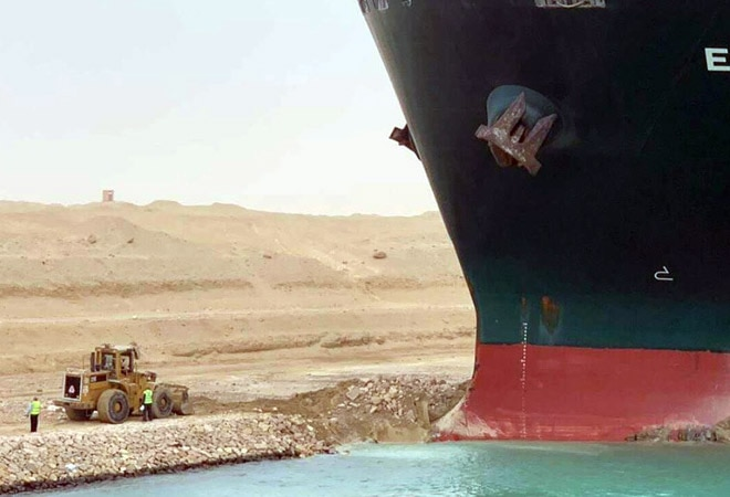Ship blocking Suez Canal re-floats after 6 days of attempts to dislodge it