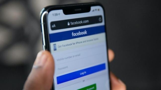 Facebook log-in screen