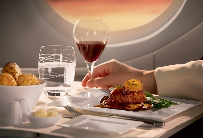 Top 5 airlines that offer gourmet food