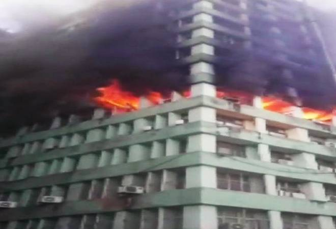 Major fire breaks out at CGO Complex in central Delhi; a CISF cop dies after inhaling smoke