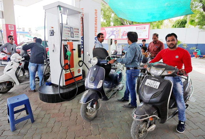 Petrol prices hiked by around 10 paise; diesel rates remain unchanged