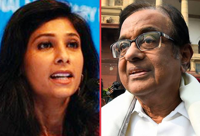 Chidambaram warns Modi govt's ministers will attack Gita Gopinath after IMF cuts growth forecast