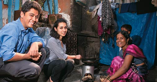 Greenway Grameen Infra, run by Neha Juneja and Ankit Mathur, manufactures a fuel efficient cooking stove for the poor