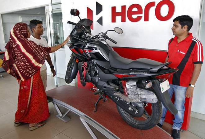 Hero MotoCorp share rebounds from 52-week low, up nearly 5% on heavy volume