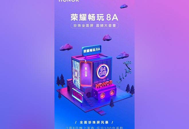 Honor 8A to launch on January 8; check out features, specifications