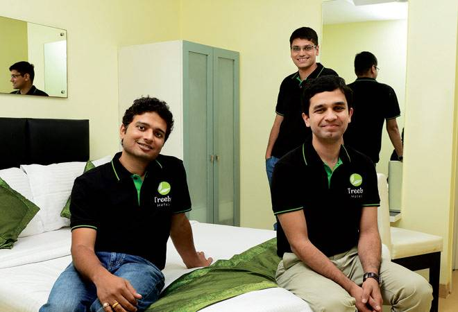 Founders of Treebo (L-R): Kadam Jeet Jain, Rahul Chaudhary and Sidharth Gupta.