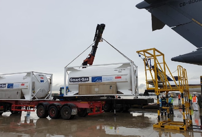 IAF delivers 4 cryogenic tanks for Tata group from Singapore