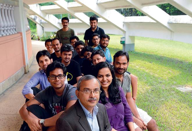 Students with Uttam K Sarkar, Dean, IIM-C