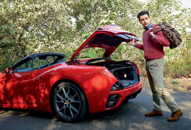 Imran with his first love, a Ferrari California.
