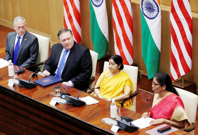 India-US 2+2 talks: Military communication pact signed; H1-B visa, cross-border terror discussed