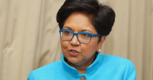 PepsiCo Chairperson and Chief Executive Indra Nooyi